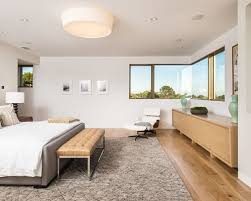 Midcentury Master Bedroom Photo In Los Angeles With White Walls In - Mid century bedroom furniture los angeles