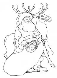 get this free reindeer coloring pages to print out 56105