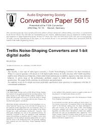 aes e library trellis noise shaping converters and 1 bit digital
