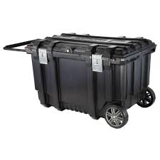 husky 37 in mobile box utility cart black 209261 the home depot