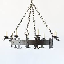 Forged Chandeliers Large Iron Ring Chandelier The Big Chandelier