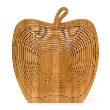 foldable apples bamboo basket kitchen fruits vegetable storage