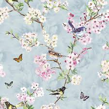 98214 maylea birds butterflies blue pink floral holden decor