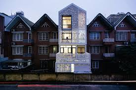 modern brick house cocoon house conventional brick home gets dramatic modern makeover