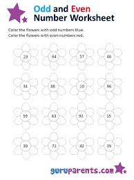 odd and even numbers worksheet worksheets
