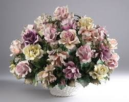 capodimonte basket of roses capodimonte flowers