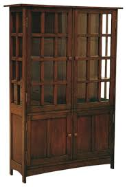 Arts And Craft Bookcase Arts And Crafts Mission Solid Oak China Cabinet Craftsman
