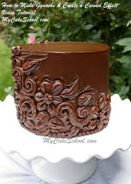 how to make ganache u0026 decorate with a carved effect u2013 video
