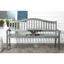 Saybrook Outdoor Furniture by Safavieh Mischa Outdoor Steel Patio Bench In Beach House Blue