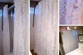 Frilly Shower Curtain My C Ray Of Life Ruffle Shower Curtain