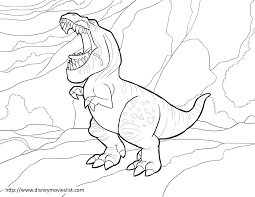 butch the good dinosaur butch coloring page sheet pdf printable