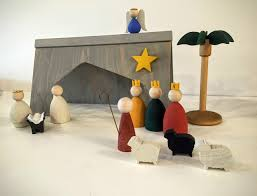Home Interiors Nativity by Bestemorsimports Scandinavian Nativity Scene
