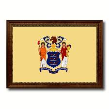 new jersey state flag home decor office wall art livingroom