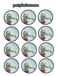 free printable zombie images free zombie printables from party fun box catch my party