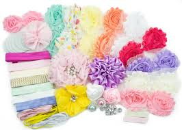 hair bow supplies baby shower headband station diy kit by jlika make