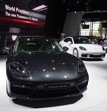 porsche sedan white 2016 paris motor show porsche panamera plug in hybrid in world