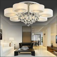 remote control bedroom l 6 lights luxury crystal colored led acrylic chandelier round e27 6