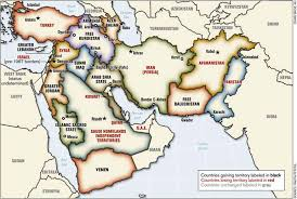 middle east map with country name plans for redrawing the middle east the project for a new middle