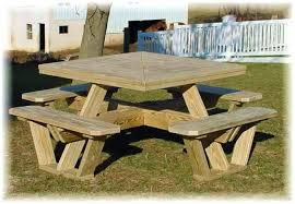octagon picnic table plans with umbrella hole round picnic table plans round picnic table plans free octagon