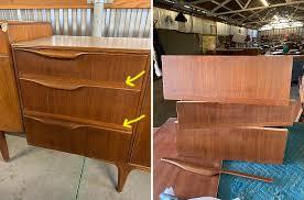 best glue for cabinet repair repairing teak veneer on mid century modern furniture