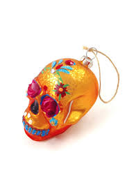 ghome2 flower skull ornament from minneapolis by go home