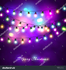 lights festive decorations glowing new stock vector
