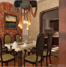 Wohnzimmer Lampe Drahtseil Großhandel Reifen Seil Kronleuchter E27 Lampe Seil Pendelleuchten
