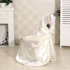 white gold and purple wedding white gold purple self tie universal smooth satin chair cover