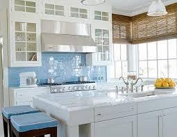 Glass Backsplashes For Kitchens Kitchen Backsplash Glass Tile Blue