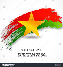 Independence Flag Flag Burkina Faso Independence Day Stock Vector 301089812