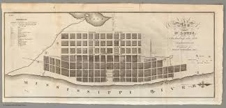 Map Of St Louis Plan Of St Louis David Rumsey Historical Map Collection