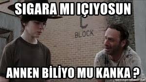 Rick Grimes Crying Meme - sigara mı içiyosun annen biliyo mu kanka crying rickgrimes