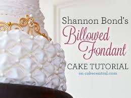 wedding cake tutorial billowed fondant tutorial cakecentral