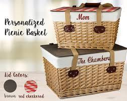 personalized basket personalized picnic basket etsy