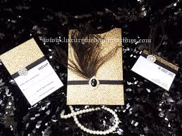 gatsby invitations the great gatsby luxury pebble embellishment feather