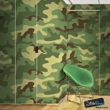 peel and stick wall murals removable wall murals woodland green military combat camo camouflage wall mural 6064