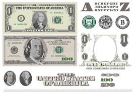 money 1 and 100 dollar bills template stock photo image 21931150