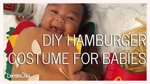 diy infant halloween costume diy halloween hamburger costume for babies denise wild