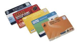 printed season ticket membership cards plastic cards access