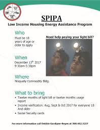 light bill assistance programs attention nisqually need help with your south puget intertribal