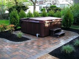 Landscaping Ideas For Backyard Privacy Patio Ideas Hot Tub Landscaping Privacy Backyard Hot Tub