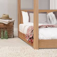 low wooden four poster bed frame by get laid beds