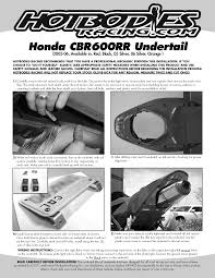 cbr600rr undertail installation hotbodies racing
