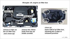 jeep wrangler jk 2007 to 2015 how to replace air filter jk forum