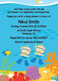 the sea baby shower invitations the sea baby boys snorkeling baby shower invitations