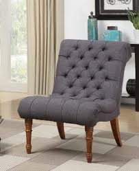 Tufted Accent Chair Grey Tufted Accent Chair Linen Look Fabric Sam Levitz Furniture