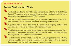 nfpa 70e arc flash table making sense of new arc flash protection rules
