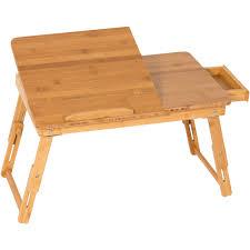 Adjustable Laptop Desk Bestchoiceproducts Rakuten 100 Bamboo Adjustable Laptop Desk