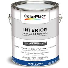 colorplace interior paint semi gloss lb 1 gal walmart com