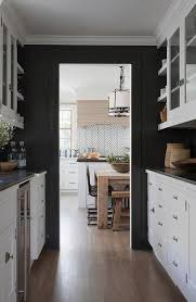 black walls white kitchen cabinets white butler pantry cabinets with black walls transitional